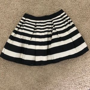 Forever 21 Black Cream Striped Skirt